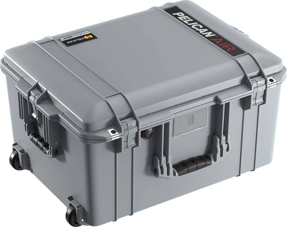 Pelican 1607 Air Case With Foam – シルバー B079TY6V4Q