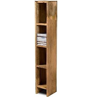 Lovely Dakota Light Mango CD Tower / Holder   Indian Living Room Furniture Shelves