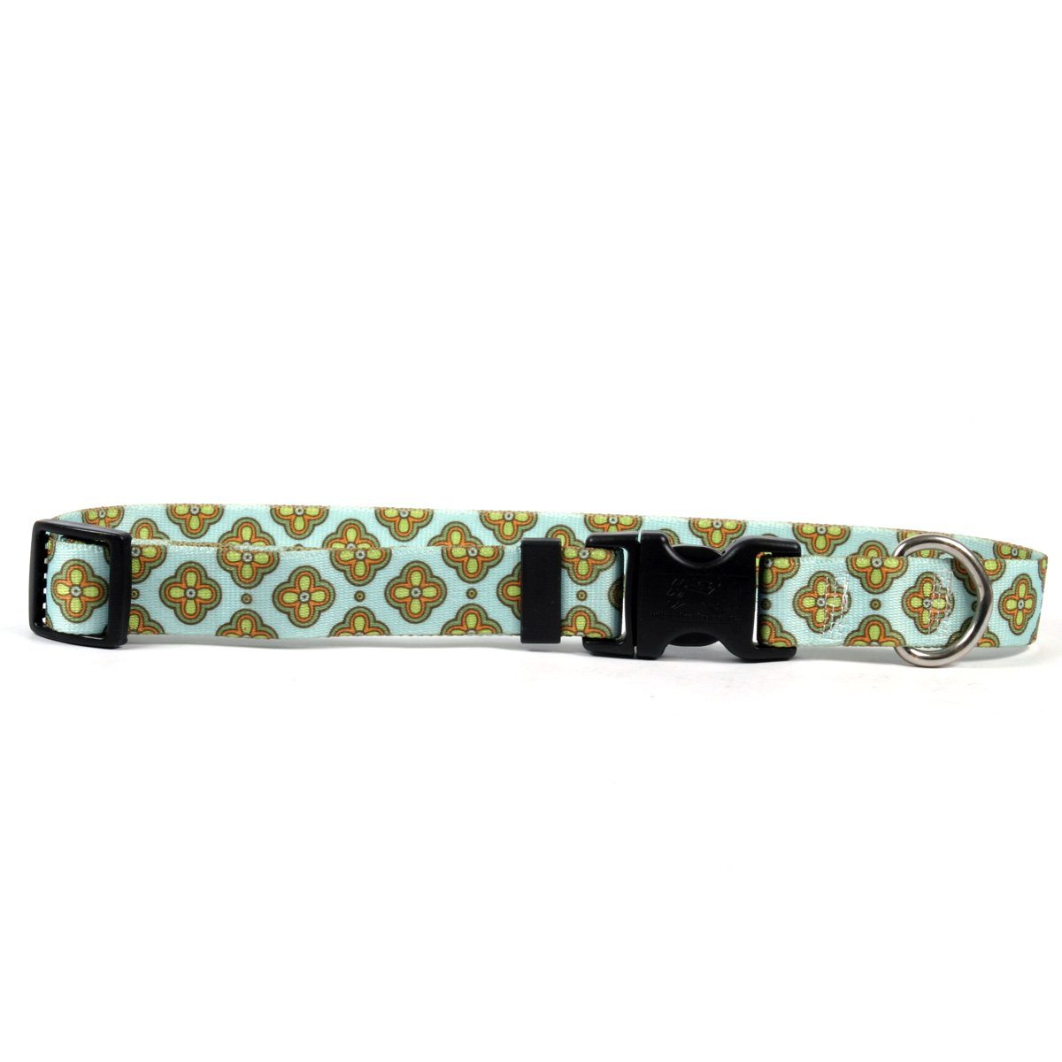 Yellow Dog Design Cleo Blue Dog Collar 3/4'' Wide and Fits Neck 10 to 14'', Small