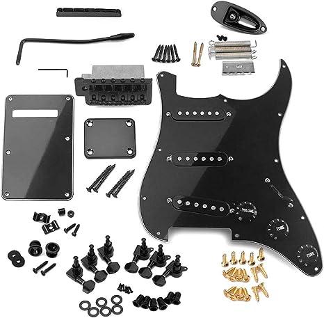 Muslady ST guitarra electrica DIY Set Completo de Accesorios ...