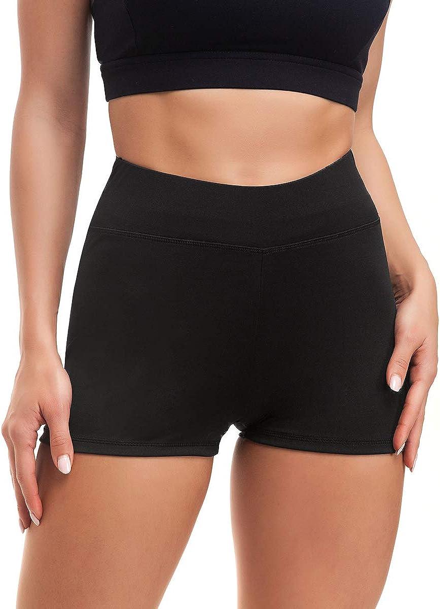 Prettyia Femmes Lait Fibre Yoga Shorts De Sport Gym Entraînement Running