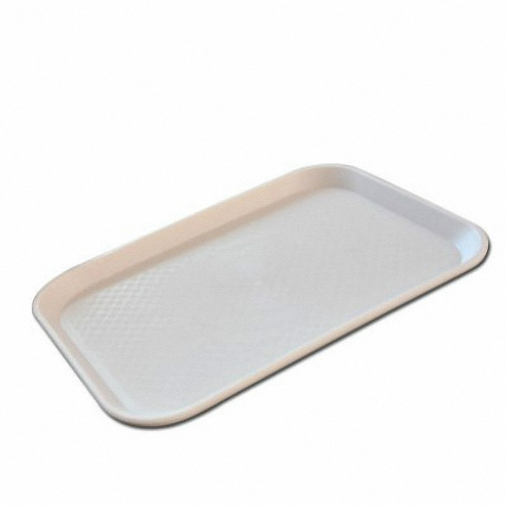 Reptile Food Bowl large OMEM Water Dish,Feeding Dish, Tortoise Bowl (L, White)