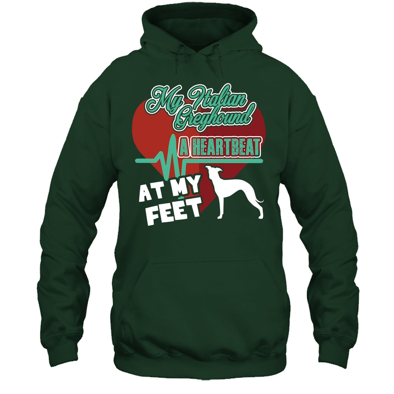 My Italian Greyhound A Heartbeat T Shirt Italian Greyhound Tshirt Design