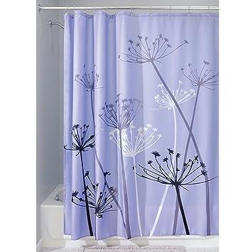 Gemdale PEVA Waterproof Mildew Resistant Shower Curtain Liner Purple Dandelion Curtains