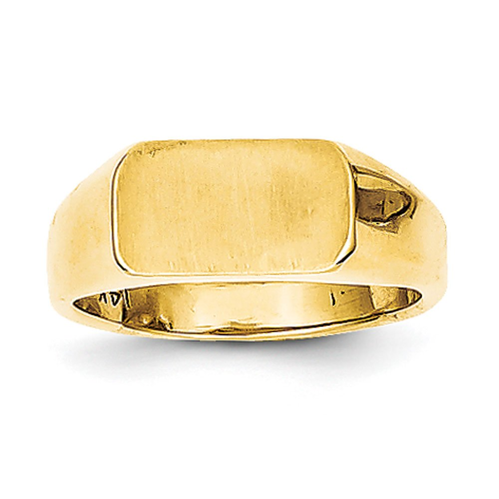 Baby and Children 14K Gold Signet Ring (yellow-gold) by Qgold