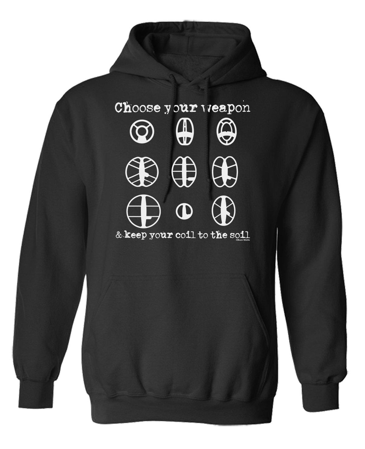 Choose Your Weapon METAL DETECTOR Wahl von Hoodie oder von Strickjacke  Herren Damen Unisex: Amazon.de: Bekleidung