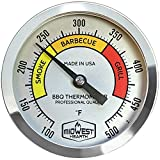 3 bbq smoker thermometer - Midwest Hearth BBQ Smoker Thermometer for Barbecue Grill, Pit, Barrel 3