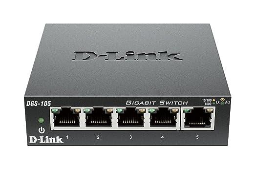 69 opinioni per D-Link DGS-105 Switch 5 Porte Gigabit, Struttura in Metallo, Nero/Antracite