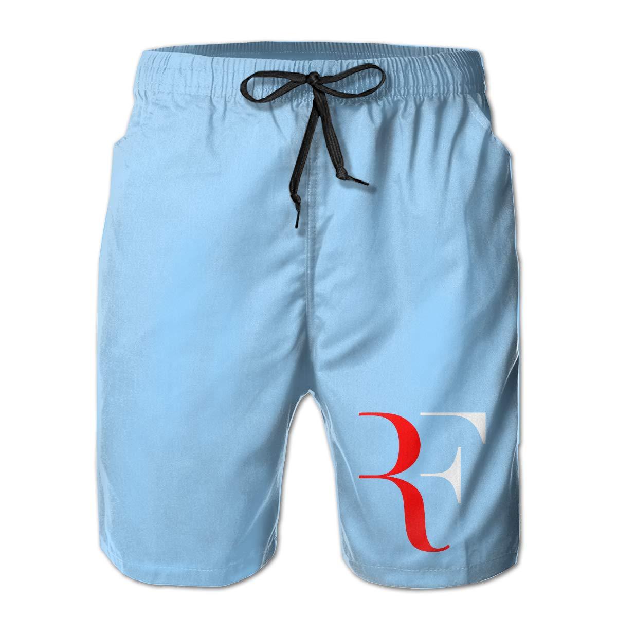 SheSylvi Mens Swim Trunks Roger-Federer Accessories Swimming Beach Surfing Board Shorts Swimwear with Pockets