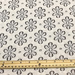 natural nylon and cotton eyelet lace fabric by the yard or wholesale floral wheel. Black Bedroom Furniture Sets. Home Design Ideas