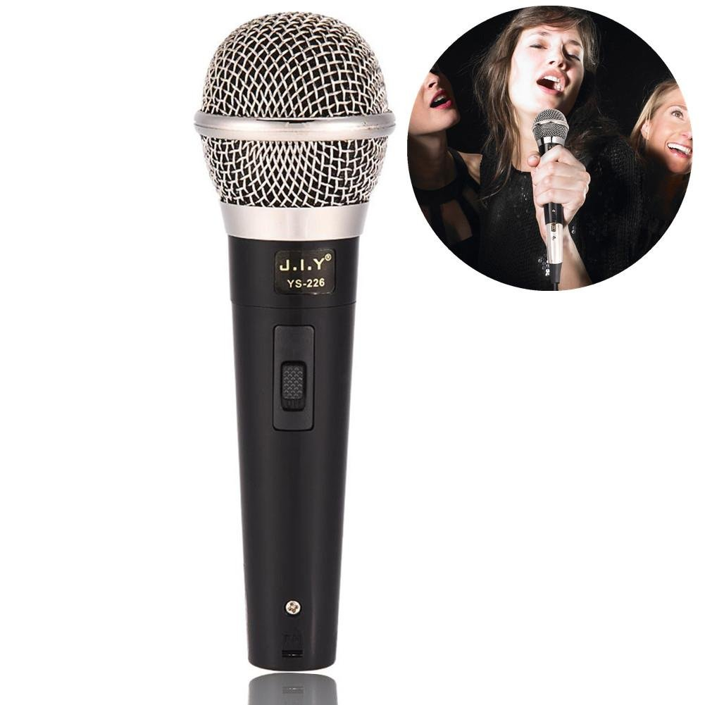 Zerone Handheld Professional Wired Dynamic Microphone Clear Voice for Karaoke Vocal Music Performance, Handheld Mic with On/Off Switch by Zerone