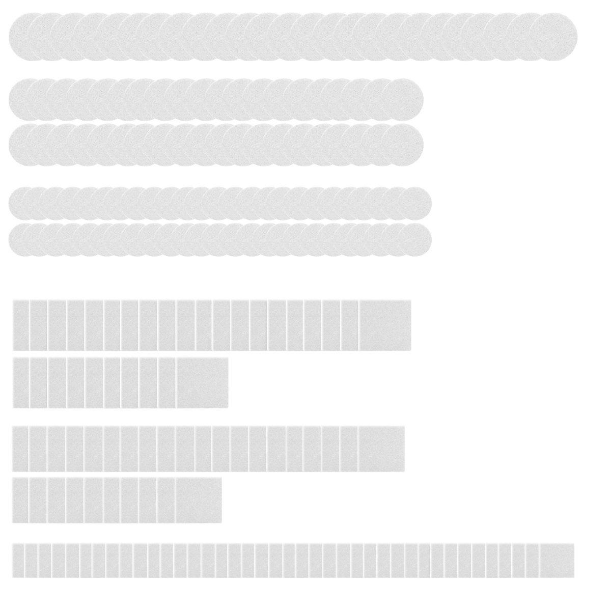 Navaris Bodengleiter Selbstklebend f/ür M/öbel Kork Gleiter Set 215-teilig Bodenschutz Pads f/ür Stuhl Fliesen Parkett Stuhlgleiter Hellbraun