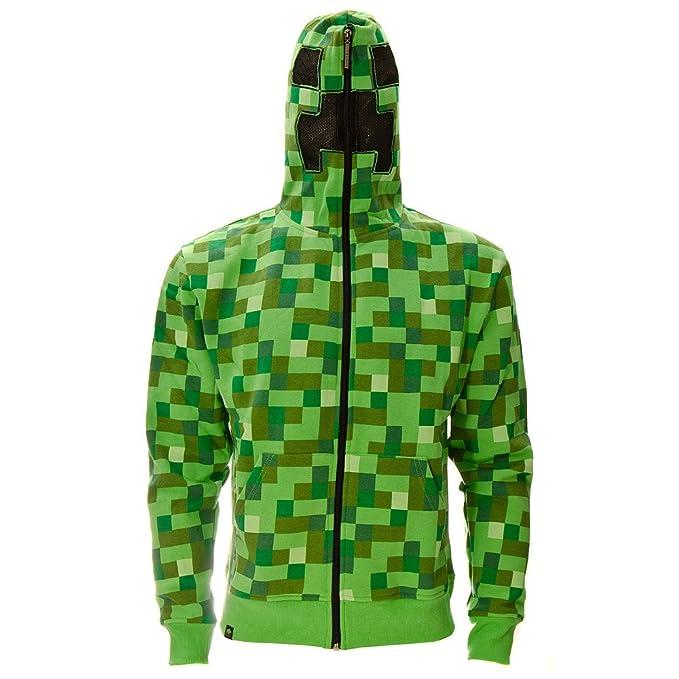 Minecraft Creeper Sudadera con Capucha (Verde) Verde Verde X-Large: Amazon.es: Ropa y accesorios