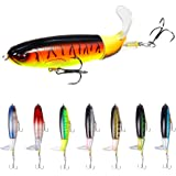 8Pcs Fishing Lure Set Bass with Topwater Floating Rotating Tail Artificial Hard Bait Fishing Lures with Box/Swimbaits Slow Si