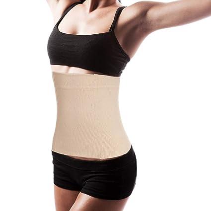 a1180e6b8f Womens Belly Wrap Waist Trainer Sport Black Control Top Tummy Belt Sauna  Seamless Waist Cincher