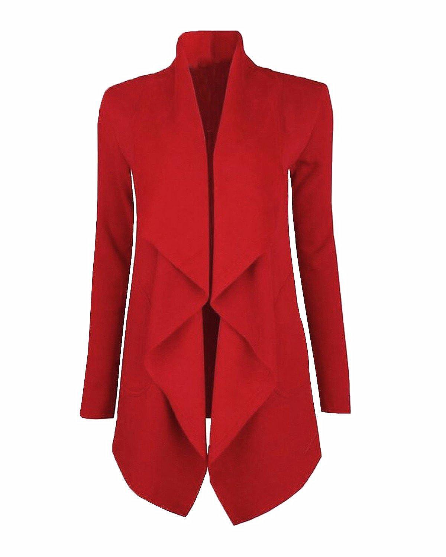 LANISEN Women's Long Sleeve Open Front Draped Business Blazer Cardigan Jacket S-2XL LANISEN4A9ACF4E