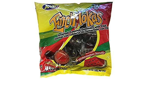 Amazon.com : Jovy Enchilokas Watermelon Flavor | 1lb, 32 ct | Mexican Candy : Grocery & Gourmet Food