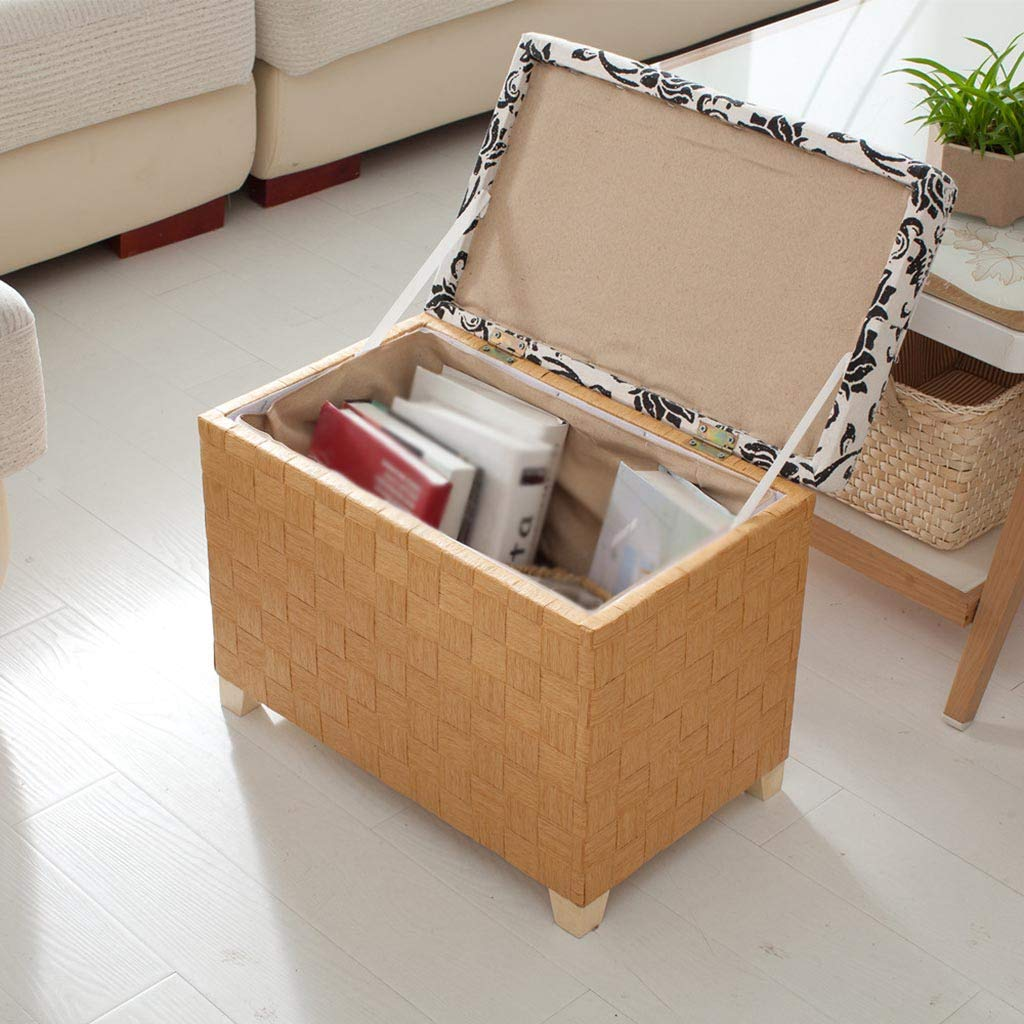 Caja de almacenamiento para banco de zapatos, Caja de de de almacenamiento de madera maciza Taburete de almacenamiento multifunción Caja de almacenamiento de juguete ( Color : Marrón , Tamaño : 40 40 40CM ) 1d1254