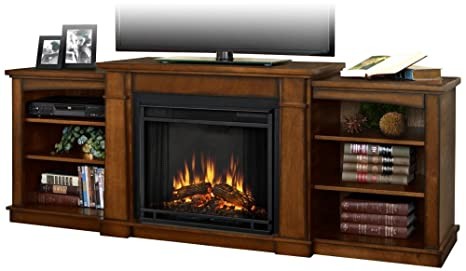Amazon Com Real Flame Hawthorne Electric Fireplace Tv Stand In