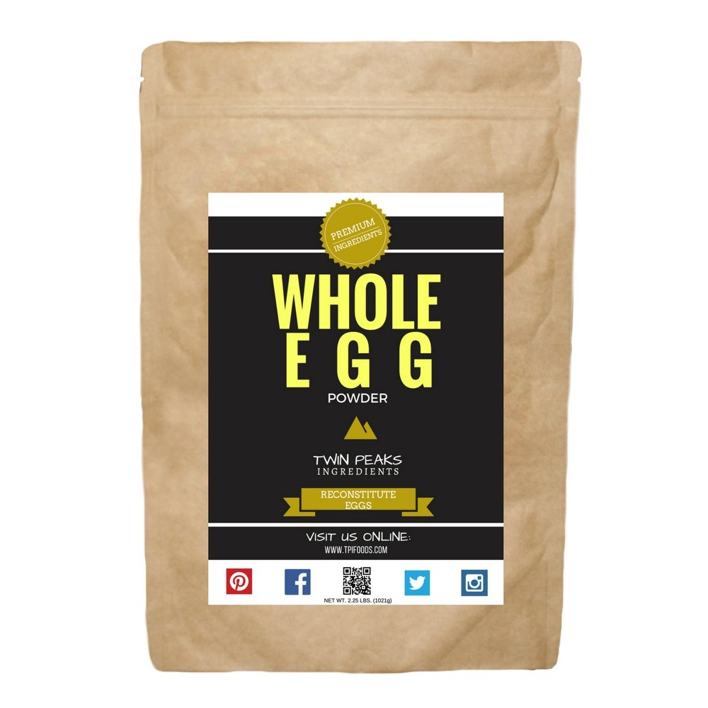 TPI Whole Egg Powder, Unflavored - Net Wt. 2.25 lbs. (1021g) by Twin Peaks Ingredients (TPI) (Image #1)