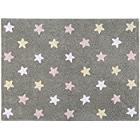 Lorena Canals Tricolor Stars Grey-Pink C-ST-P Washable Rugs