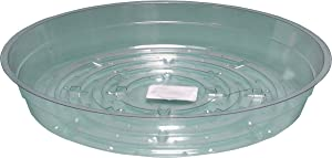 Hydrofarm HGS6 Clear 6-Inch, Pack of 25 Saucers, 6 inches