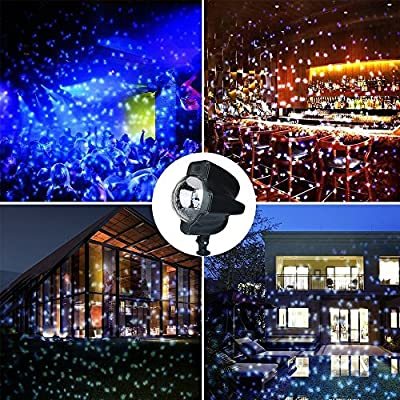 {Exclusive Designed Chirstmas Snowfall Flurries LED Light} WillMall Snow Lamp Snowflake Projector Lights Garden Lighting Waterproof Landscape Projection Decoration for New Year with Remote Controller