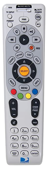 Amazon directv rc65 4 device universal ir remote home audio directv rc65 4 device universal ir remote sciox Gallery