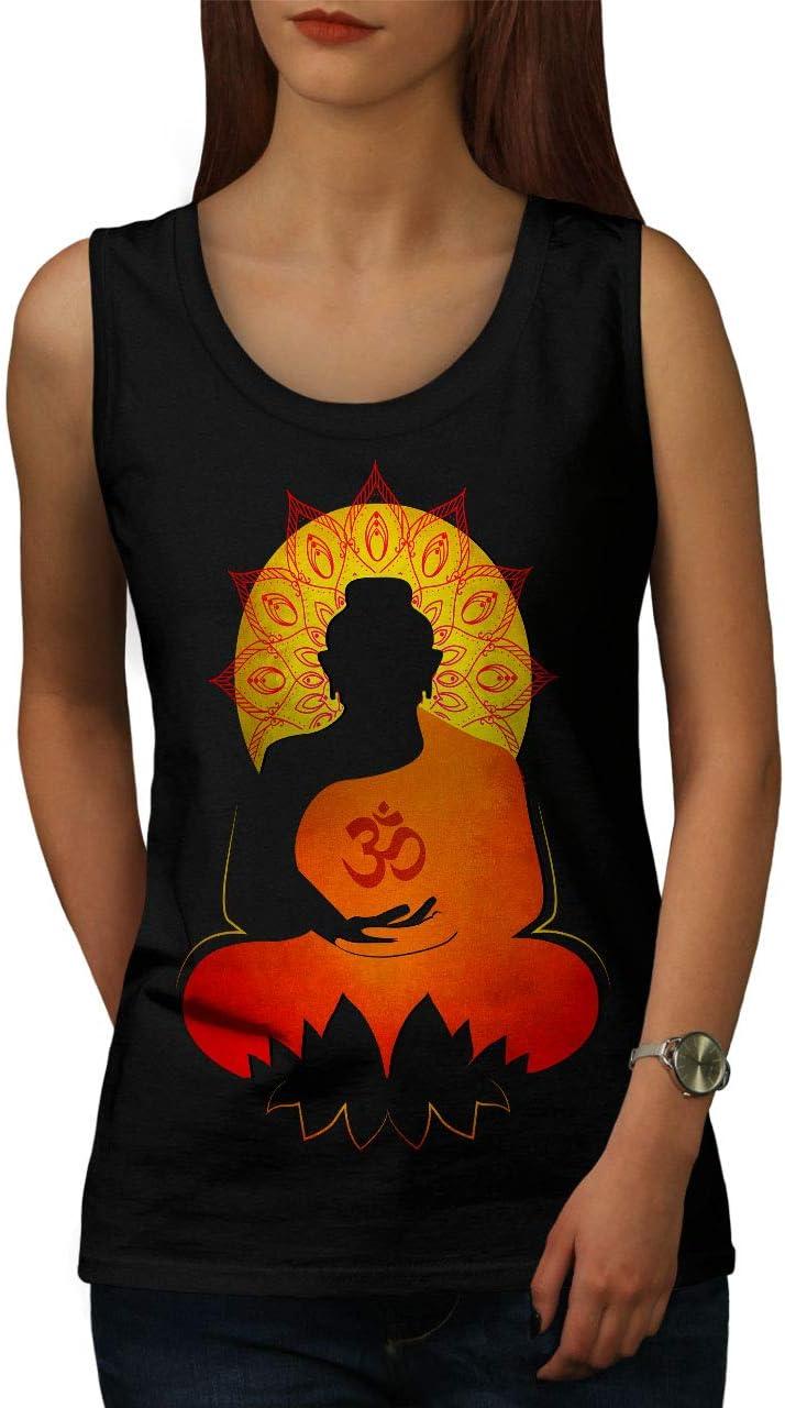 Wellcoda Bouddha Mandala Zen Femme D/ébardeur est Soleil/ Maillot de Sport