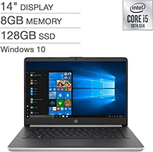 """HP 14"""" FHD IPS LED 1080p Laptop Intel Core i5-1035G4 8GB DDR4 128GB SSD Backlit Keyboard Windows 10 with S Mode (Renewed)"""