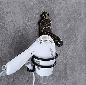 ZXY Negro WC Golpe Rack Espacio de Aluminio Pilas baño Cuarto de baño Peluquero secador de Pelo: Amazon.es: Hogar