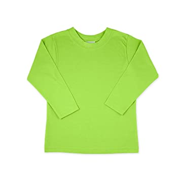 7164ef17a Image Unavailable. Image not available for. Color: Lime Green Long Sleeve  Shirt - Size 4T