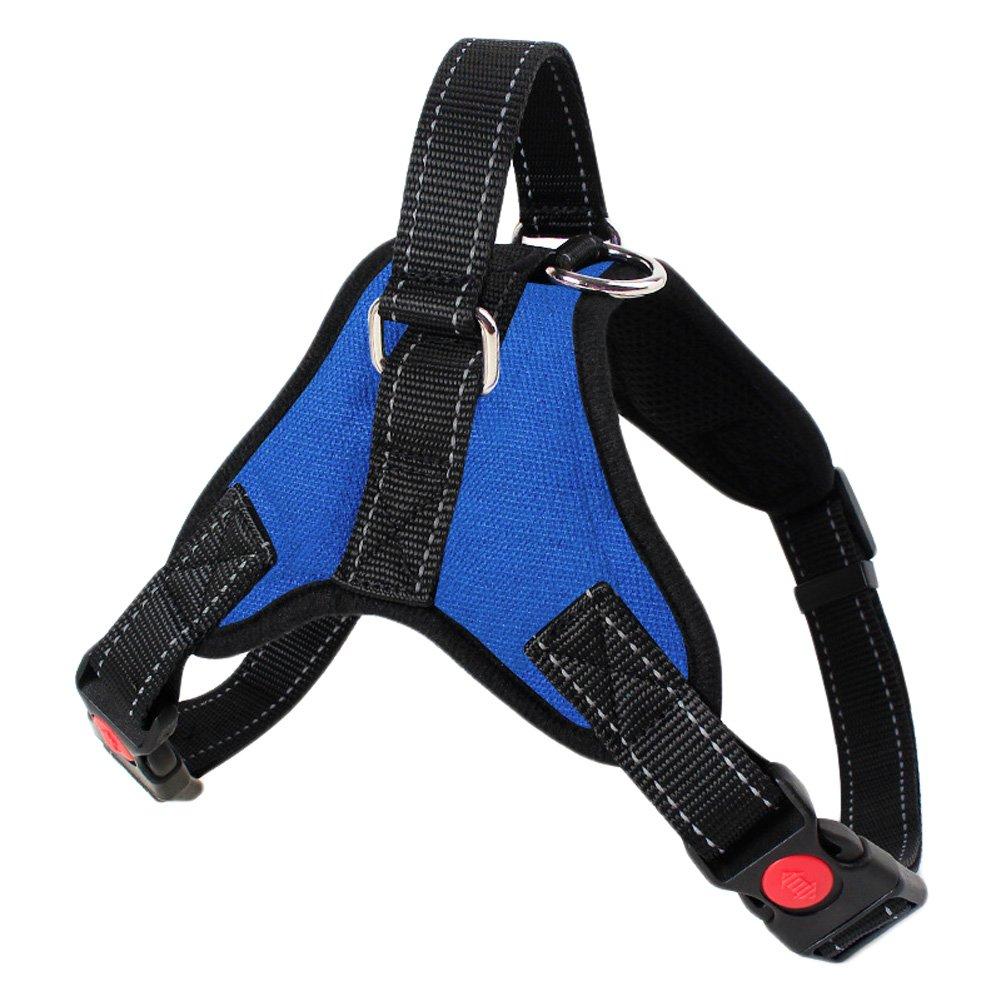 bluee L bluee L No Pull Dog Harness Vest Reflective and Adjustable Pet Vest for Outdoor Walking (L, bluee)