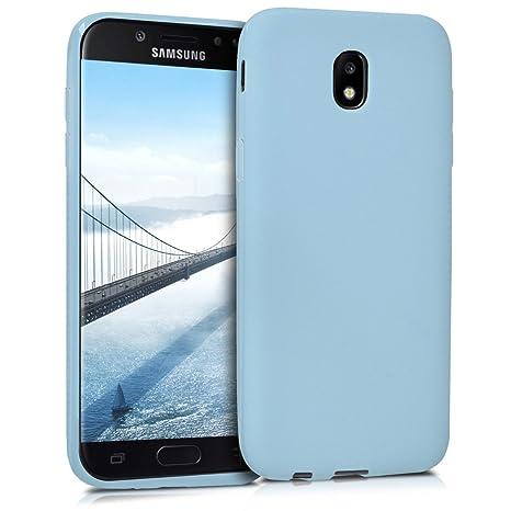 closer at famous brand various colors kwmobile Coque Samsung Galaxy J5 (2017) DUOS - Coque pour Samsung Galaxy J5  (2017) DUOS - Housse de téléphone en Silicone Bleu Clair Mat