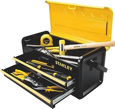 STANLEY - Caja de herramientas de metal con 2 cajones de 48,26 cm Mejor para almacenamiento de herramientas: Amazon.es: Bricolaje y herramientas