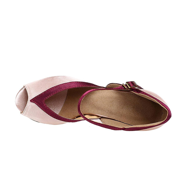 misu - Zapatillas de danza para mujer Rosa rosa, color Rosa, talla 40 2/3