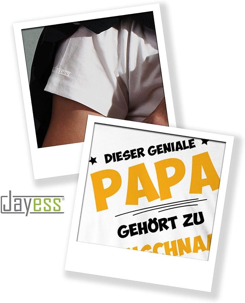 Herren T-Shirt Personalisierbar mit Deinem Wunschnamen Jayess Dieser Geniale Papa Geh/ört zu Wunschname