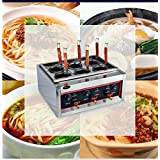 JIAWANSHUN Commercial 6000W Table Top 6 Baskets Electric Noodles Cooker / Pasta Cooking Machine 220V Only