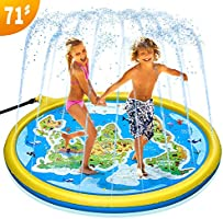 """PELLOR Sprinkler Water Pad Outdoor Toys for Kids Toddlers 71"""" Garden Splash Pad Water Toys for 1 -12 Year Girls and Boys..."""