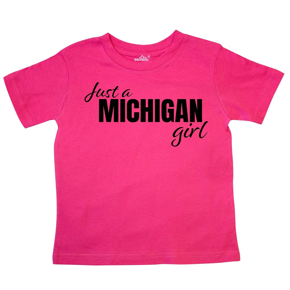inktastic Just a Michigan Born and Raised Toddler T-Shirt