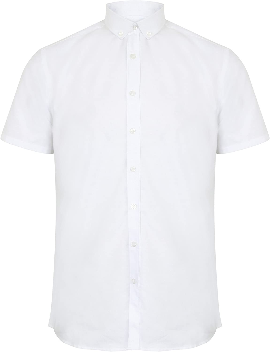 Henbury Mens Modern Short Sleeve Oxford Shirt