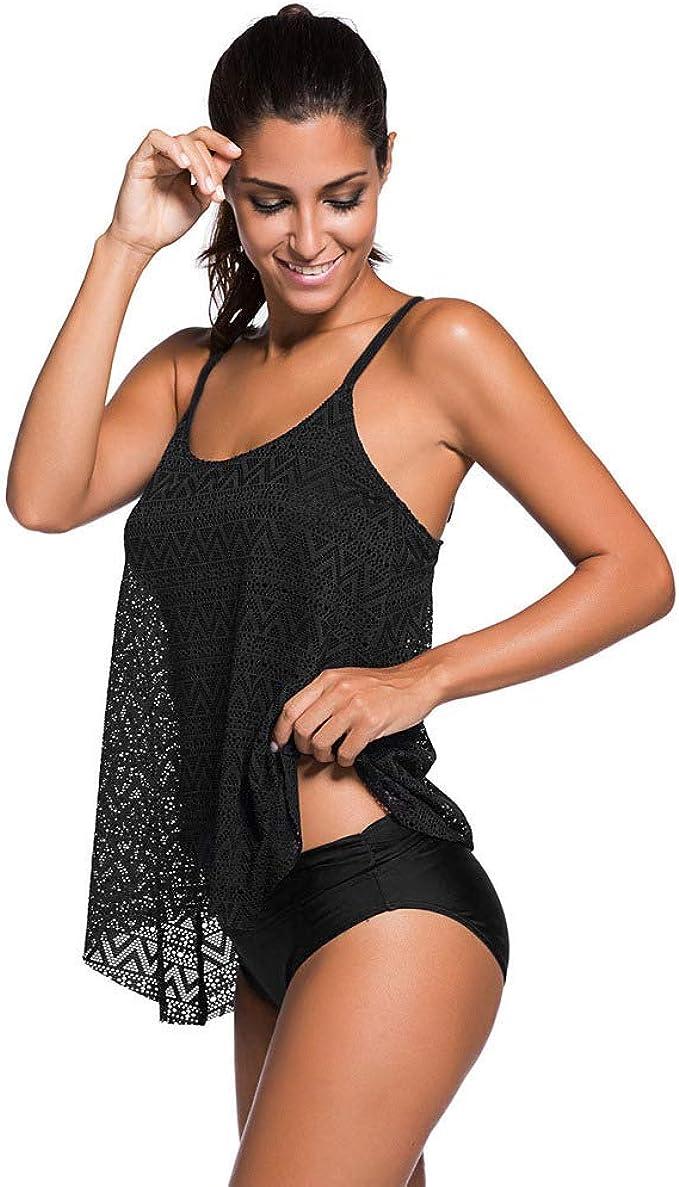 Amazon.com: Traje de baño de dos piezas para mujer: Clothing