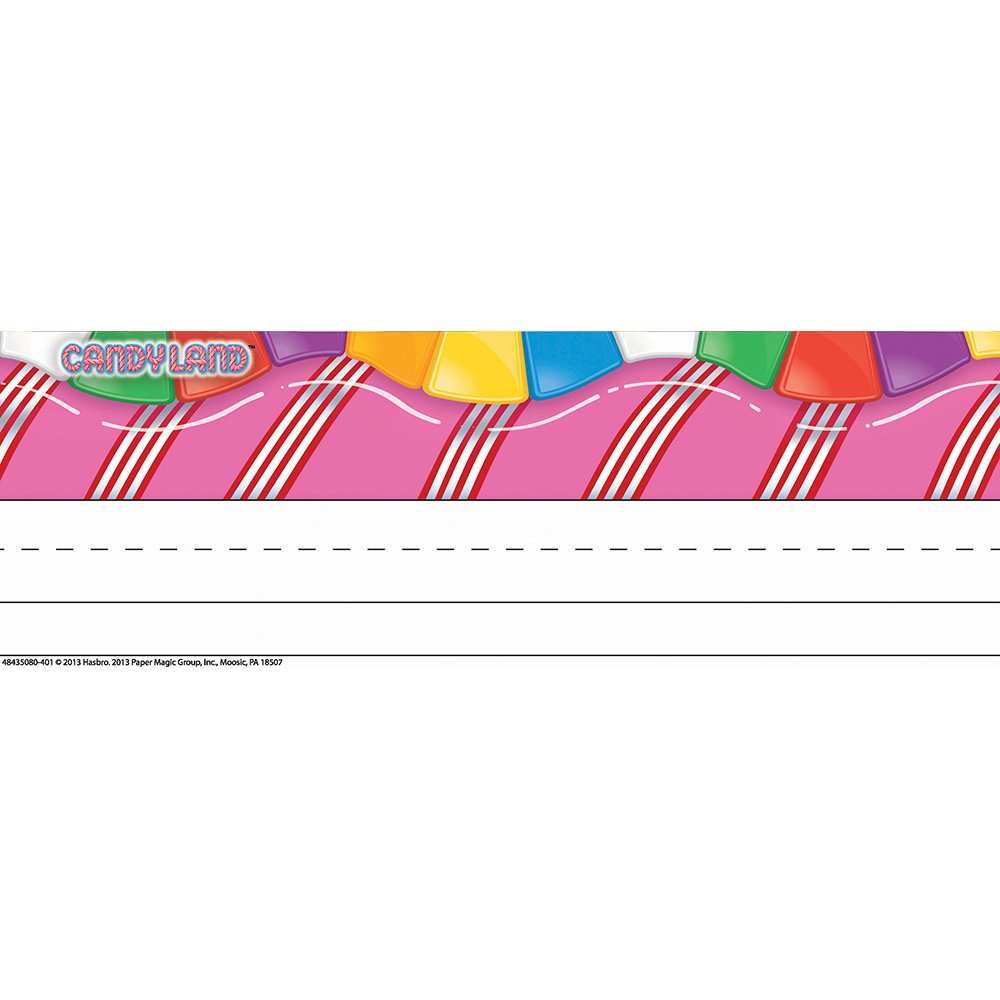 """Eureka Candy Land Tented Name Plates, Includes 36 tented Name Plates, Measuring 9.62"""" x 6.5"""""""