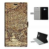 Lumia 950XL case, SoloShow(R) Microsoft Nokia Lumia 950XL Cityman 5.7 inch case High Quality PU Leather Wallet Flip case, Vintage World Map pattern (Map)