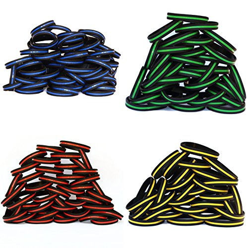 100 Thin Line Wristbands Customer Choice of Colors by SayitBands