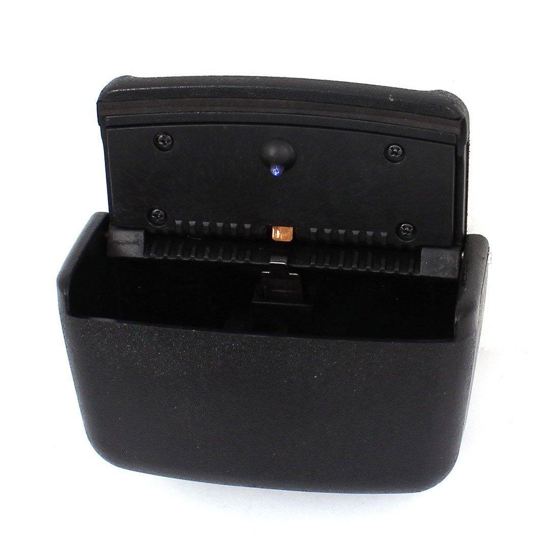 Cendrier - TOOGOO(R)Cendrier d¡ ¯ auto en plastique noir en forme de rectangle avec LED bleu 058487