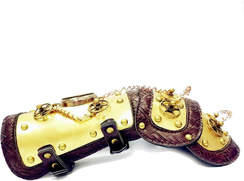 Peggy Gu Mecánico Estilo Gótico Rivet Steampunk Correa para el Brazo Cuerpo Arnés para el Pecho Shoulder Armors Cosplay Metal Remaches Accesorios Decoración Club Wear Costumes: Amazon.es: Hogar