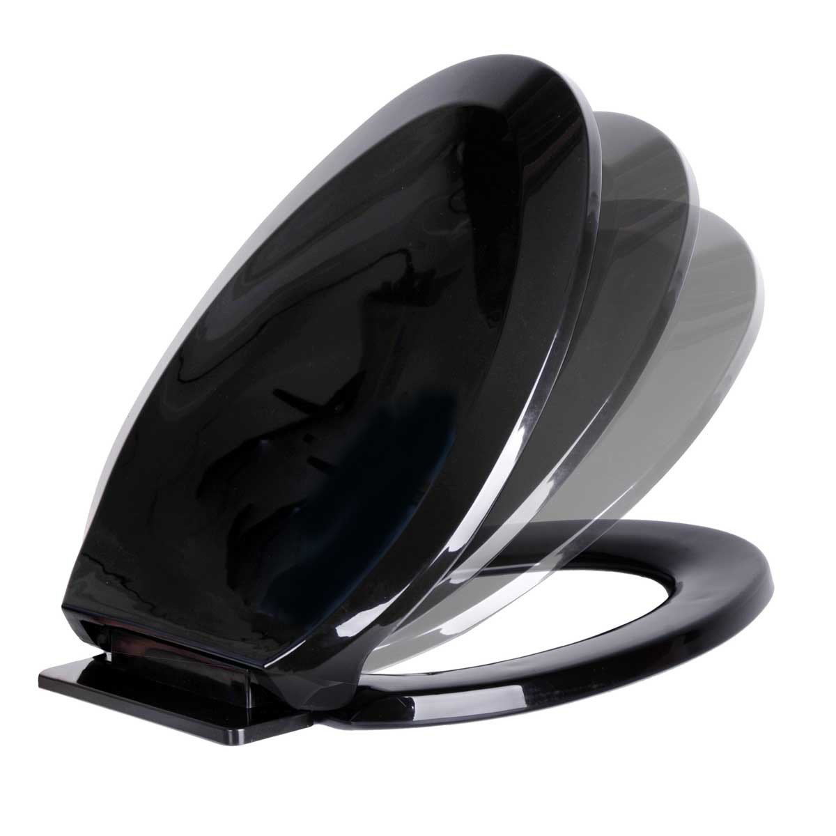Black Toilet Seat Soft Close Soft Close Black Toilet SeatBlack - Toilet seat with no lid