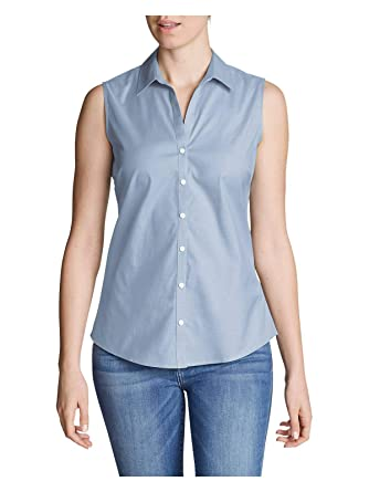 de5d1be0 Eddie Bauer Women's Wrinkle-Free Sleeveless Shirt - Solid at Amazon Women's  Clothing store:
