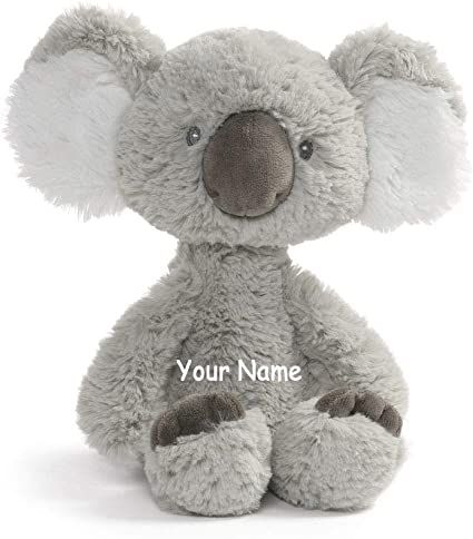 Personalized Baby Stuffed Animals, Amazon Com Personalized Baby Toothpick Grey Koala Plush Stuffed Animal Toy With Custom Name Toys Games